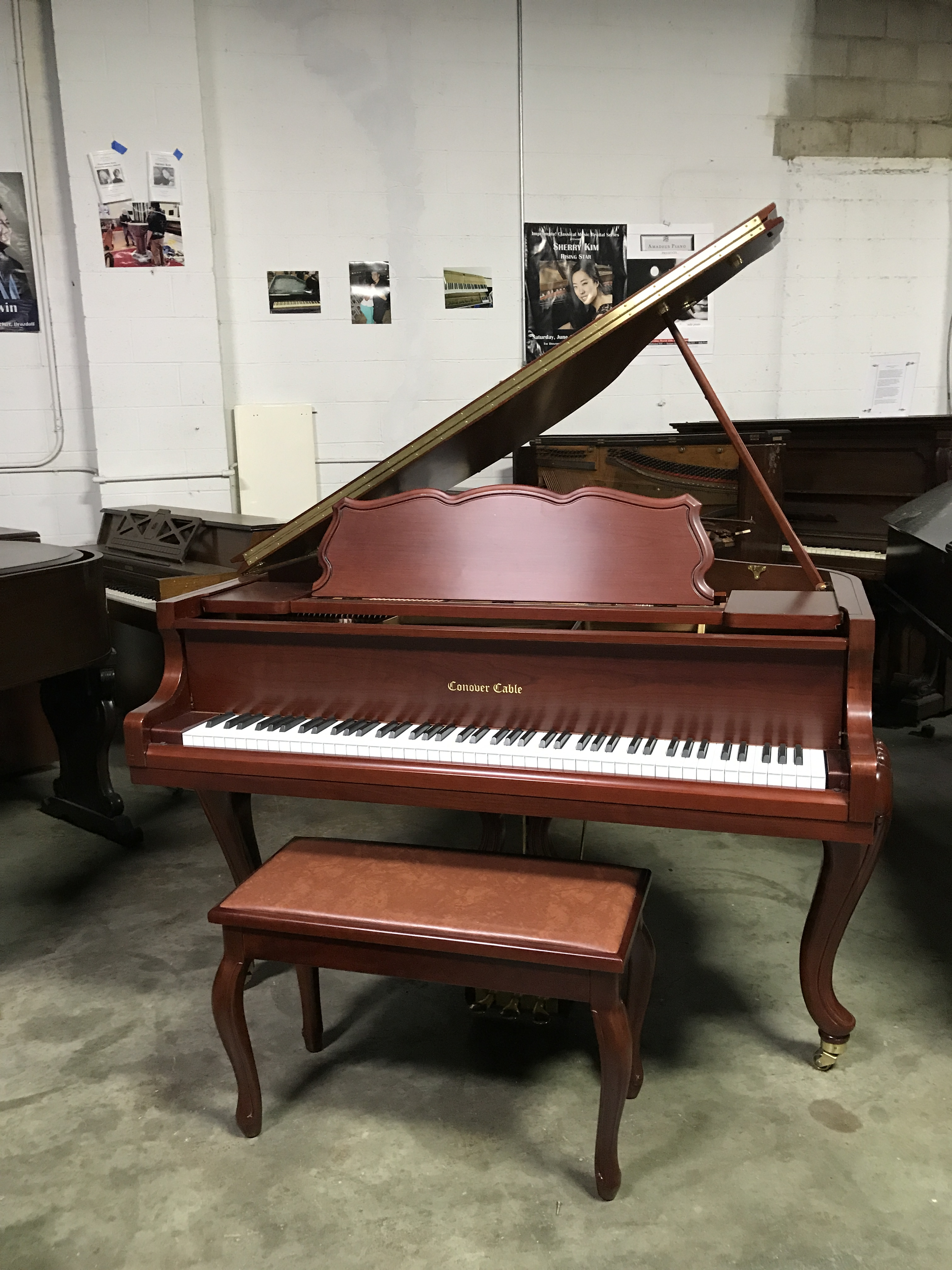 Conover Cable Baby Grand Red Mahogany Pianos For Sale