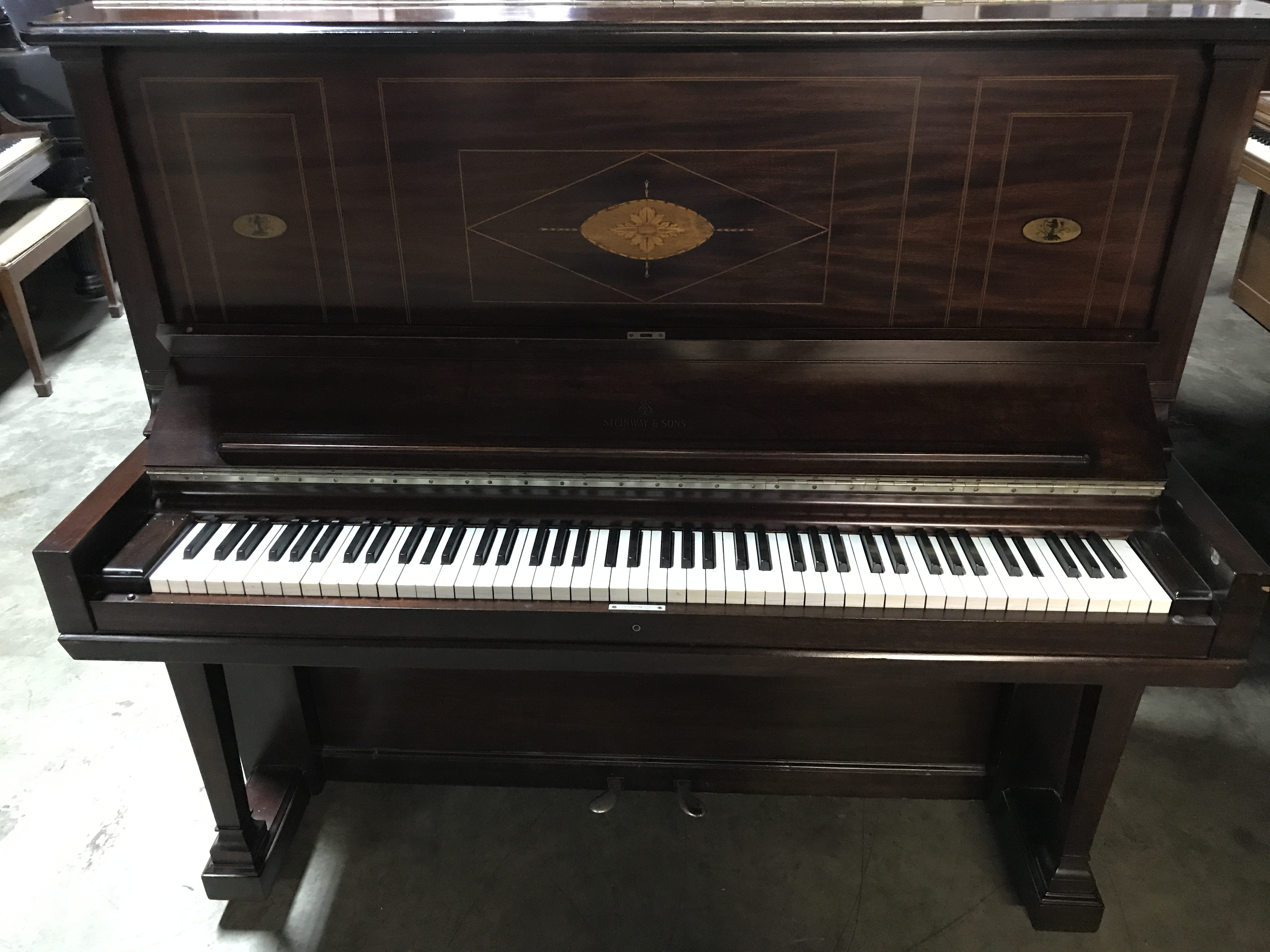 Steinway 1893 antique upright piano